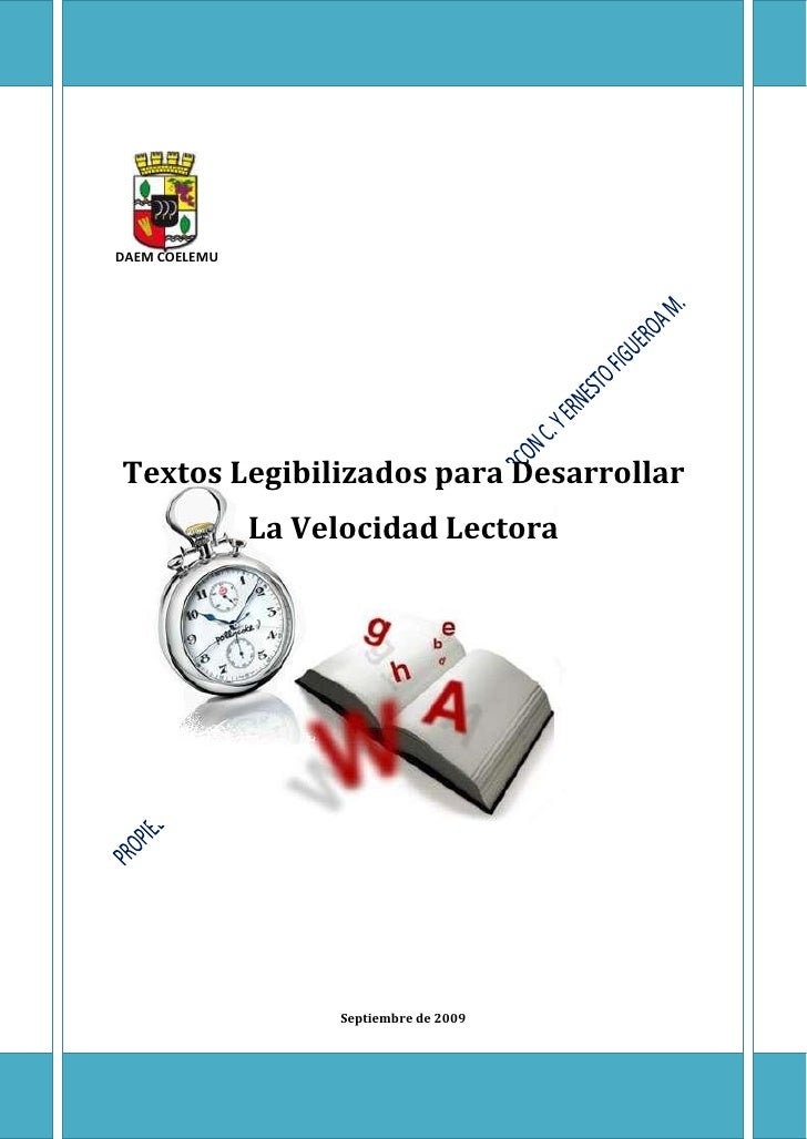 1     DAEM COELEMU     Textos Legibilizados para Desarrollar                La Velocidad Lectora                         S...