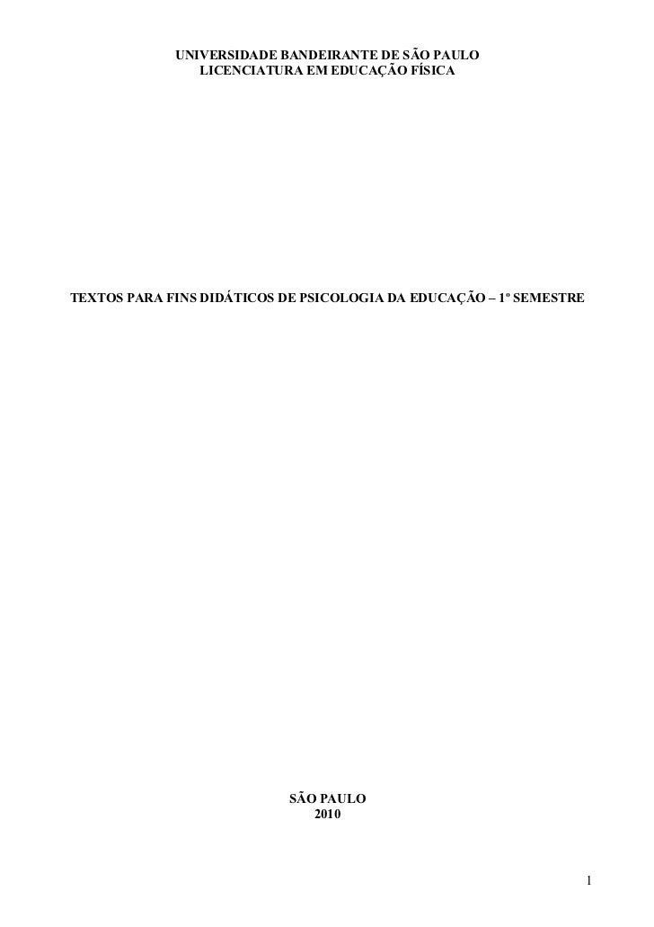 Textos psicologia 1 semestre 2010