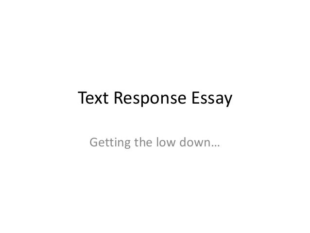 text response essay writing