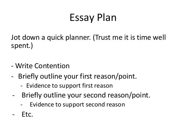 Structure of text response essay