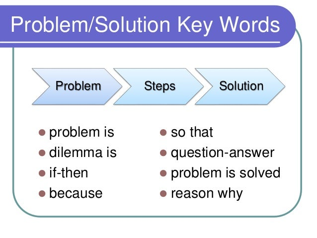 transition words for problem and solution