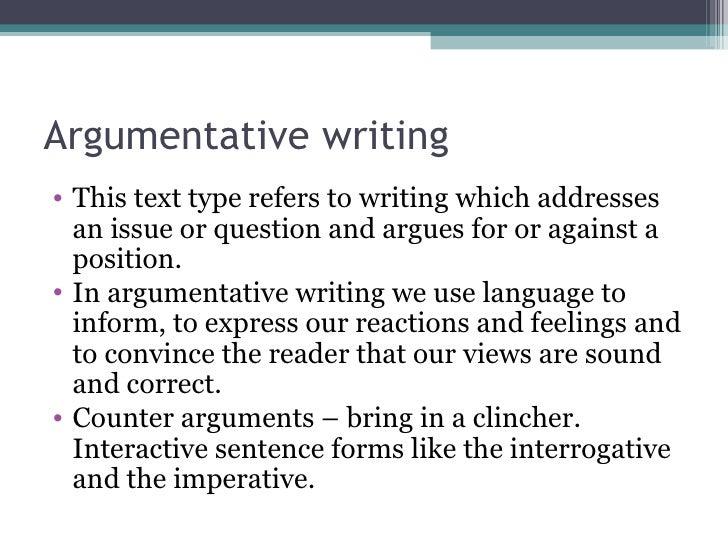 Argumentative text