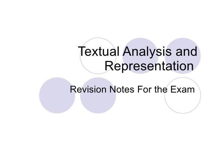 Textual Analysis And Representation