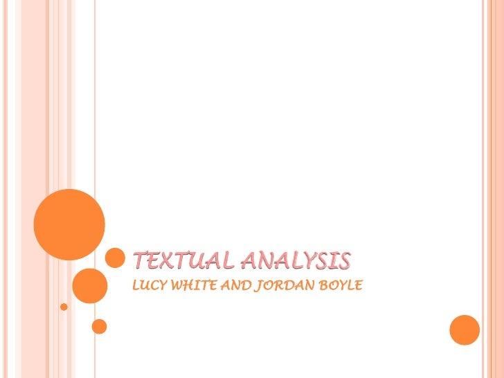 Textual analysis blog post 5
