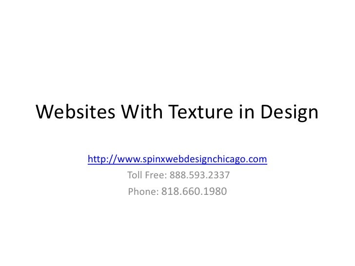 Web Design with focus on Texture Pattern