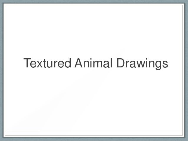 Textured.animal.drawings