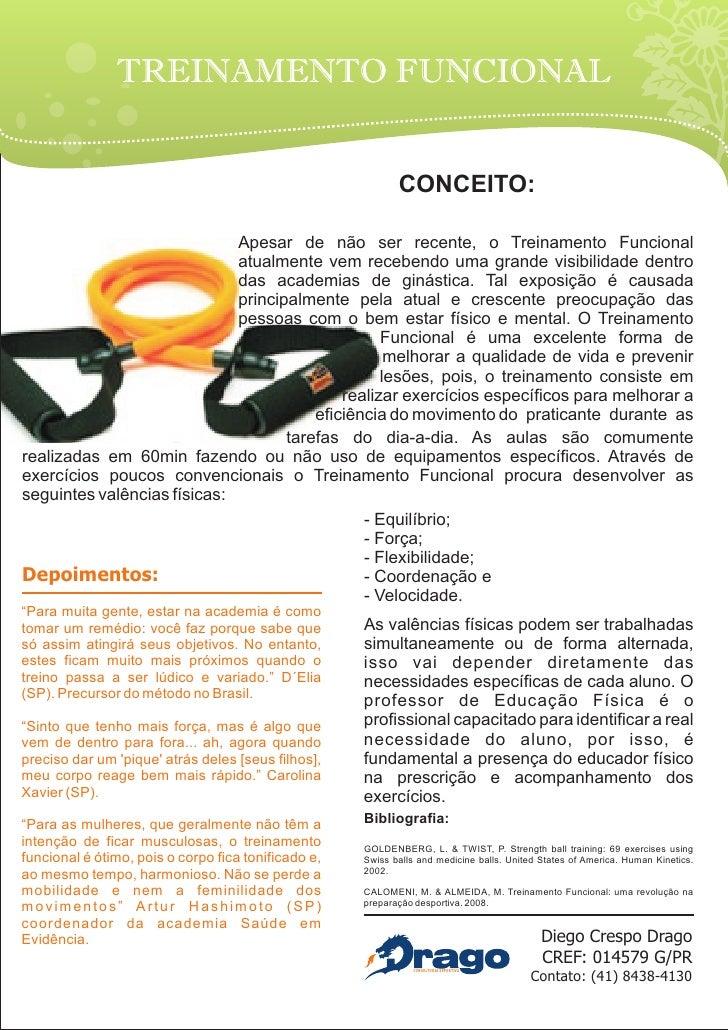 TREINAMENTO FUNCIONAL                                                               CONCEITO:                             ...