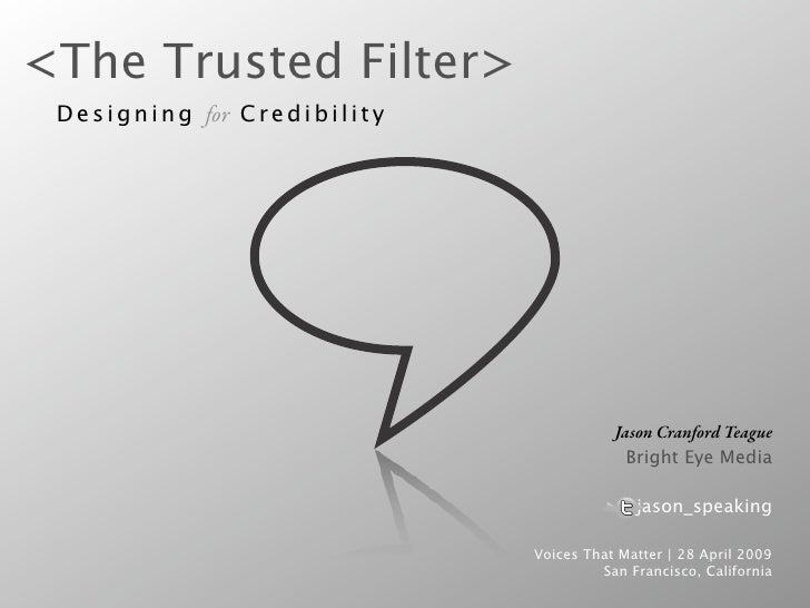 Designing For Credibility