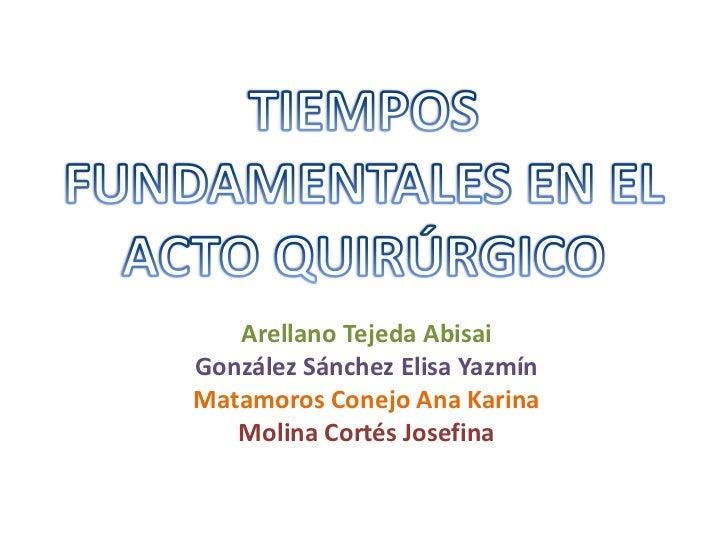 Tiempos fundamentales del acto quirúrgico.