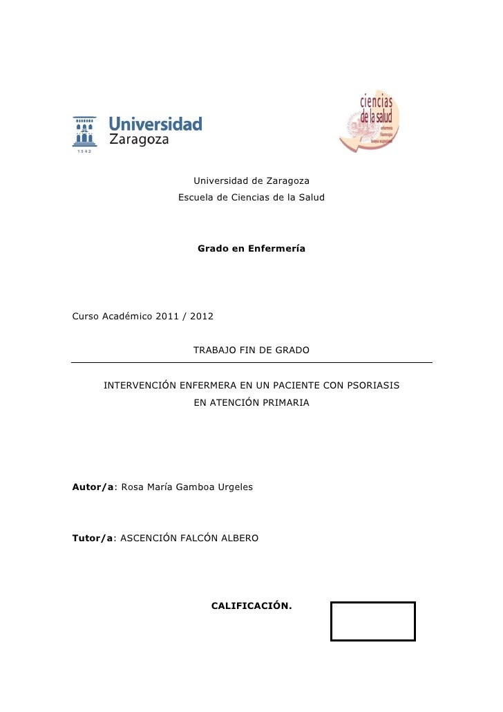 Universidad de Zaragoza                    Escuela de Ciencias de la Salud                        Grado en EnfermeríaCurso...