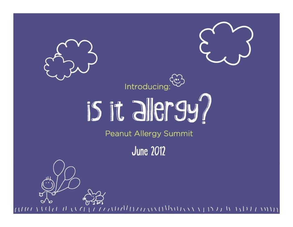 Is It Allergy? Peanut Allergy Summit