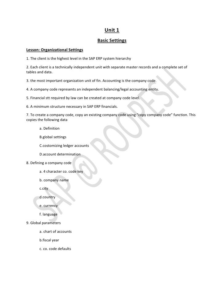 Unit 1                                            Basic SettingsLesson: Organizational Settings1. The client is the highes...