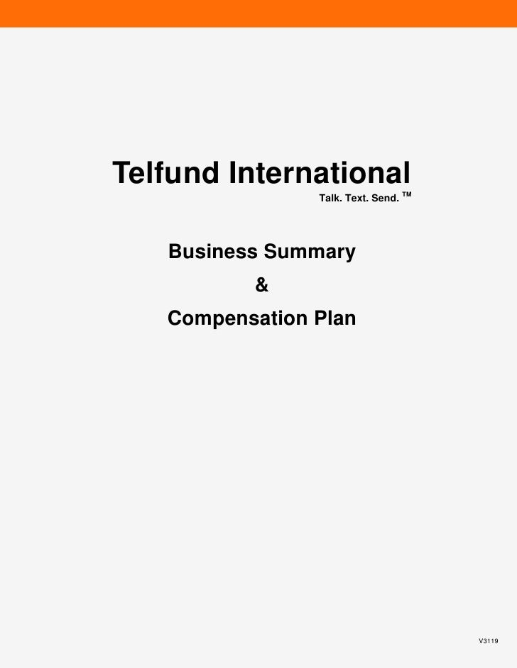 Telfund Business Summary Compensation Plan