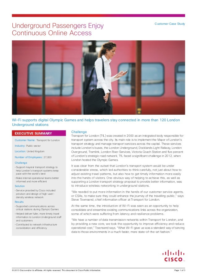 Underground Passengers Enjoy Continuous Online Access  Customer Case Study  Wi-Fi supports digital Olympic Games and helps...