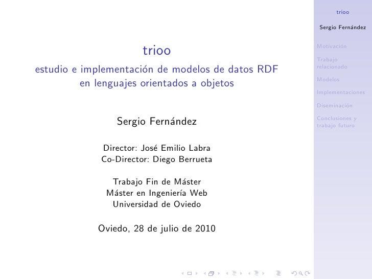 trioo, estudio e implementación de modelos de datos RDF en lenguajes orientados a objetos