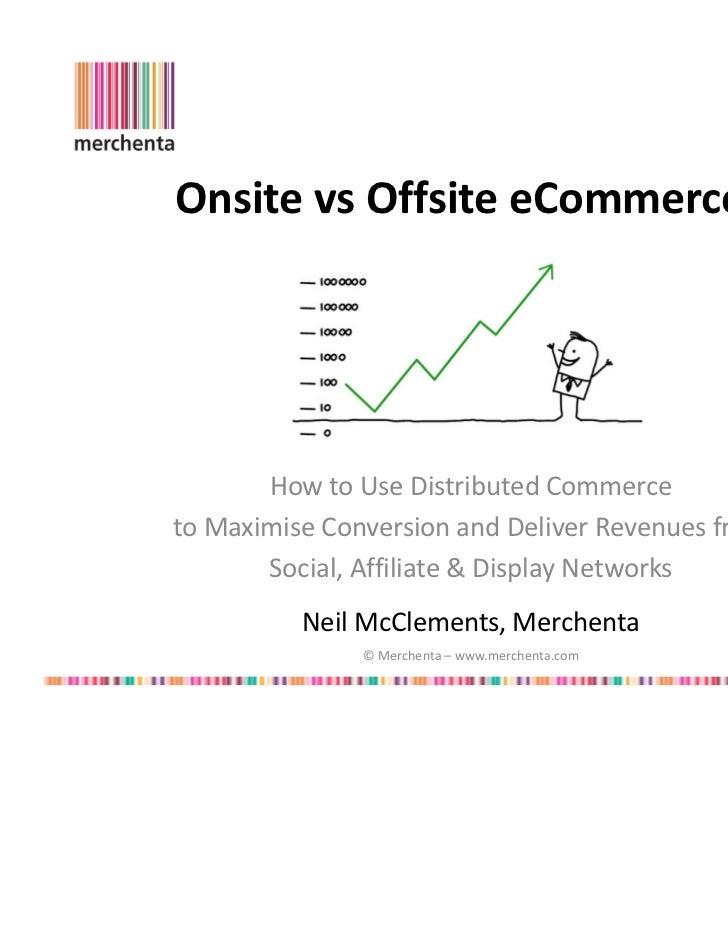 Onsite vs Offsite eCommerce?