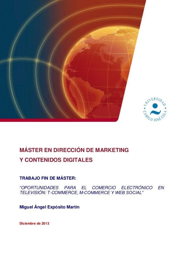 """El comercio electrónico y la televisión: """"t-commerce"""", """"m-commerce"""" y web social"""