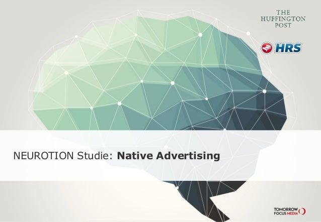 NEUROTION Studie: Native Advertising