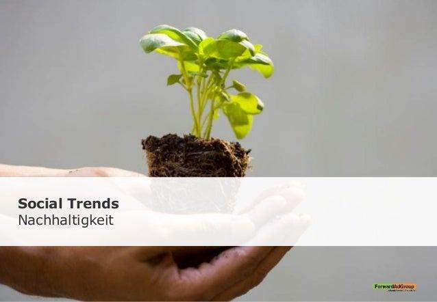 Social Trends Nachhaltigkeit