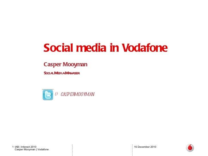Taskforce Social - Casper Mooyman @ IAB Interact 2010
