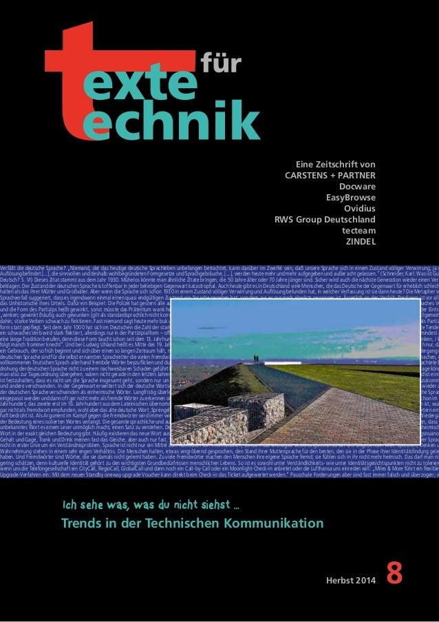 Eine Zeitschrift von  CARSTENS + PARTNER  Docware  EasyBrowse  Ovidius  RWS Group Deutschland  tecteam  ZINDEL  Verfällt d...