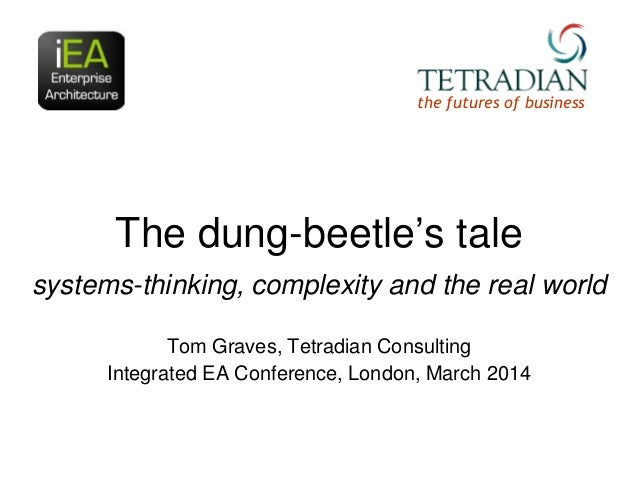 """the futures of business  The dung-beetle""""s tale systems-thinking, complexity and the real world Tom Graves, Tetradian Cons..."""