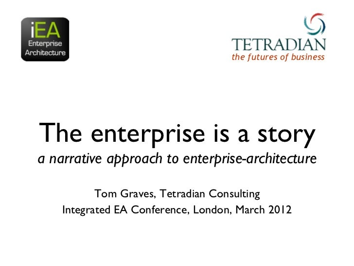 the futures of businessThe enterprise is a storya narrative approach to enterprise-architecture           Tom Graves, Tetr...
