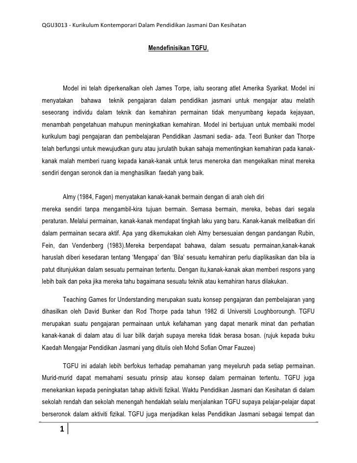 QGU3013 - Kurikulum Kontemporari Dalam Pendidikan Jasmani Dan Kesihatan                                        Mendefinisi...