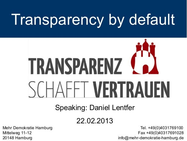 Hamburg Transparency Law