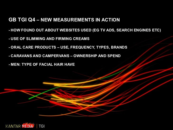 GB TGI Q4  – NEW MEASUREMENTS IN ACTION - HOW FOUND OUT ABOUT WEBSITES USED (EG TV ADS, SEARCH ENGINES ETC) - USE OF SLIMM...