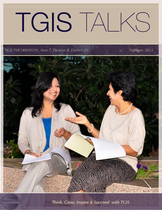 TGIS Talks February 2013