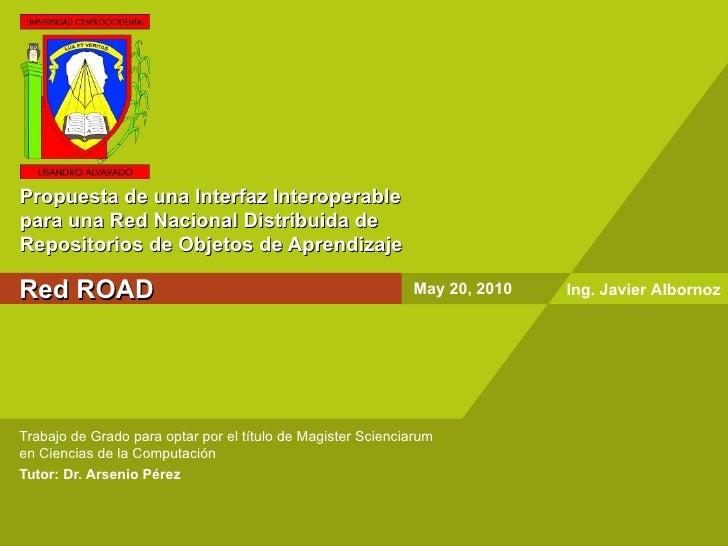 Propuesta de una interfaz interoperable para una Red Nacional Distribuida de repositorios de objetos de aprendizaje