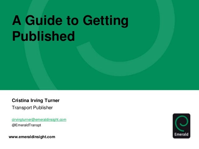 A Guide to Getting Published