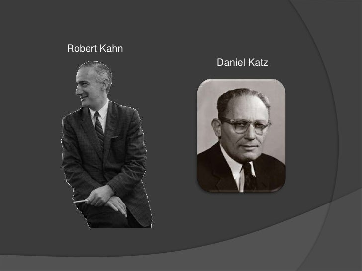 katz and kahn 1978 Start studying occupational socialization learn vocabulary, terms, and more with flashcards, games, and other study tools search create katz and kahn (1978.