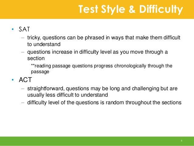 ACT vs. SAT?