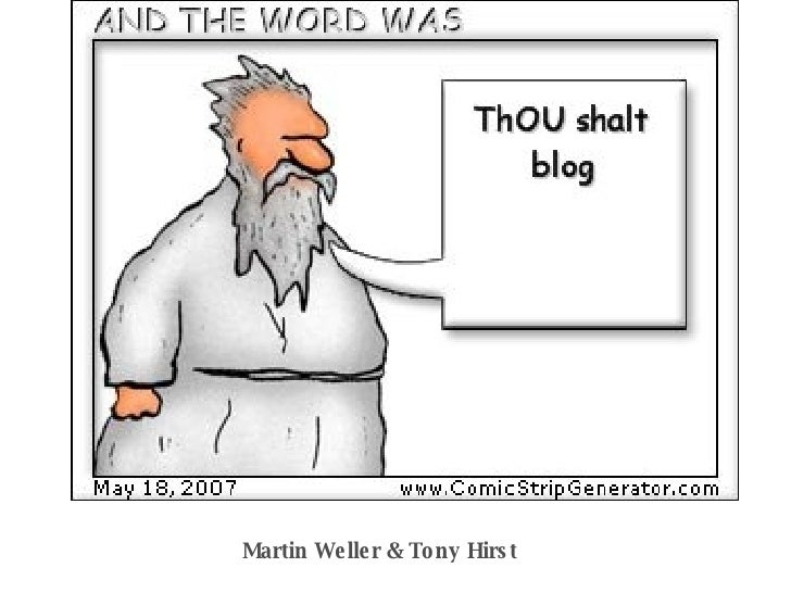 ThOU shalt blog Martin Weller & Tony Hirst