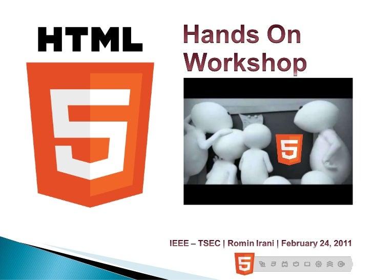 Thadomal IEEE-HTML5-Workshop