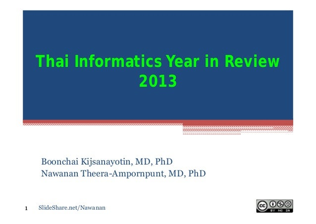 Thai Informatics Year In Review 2013