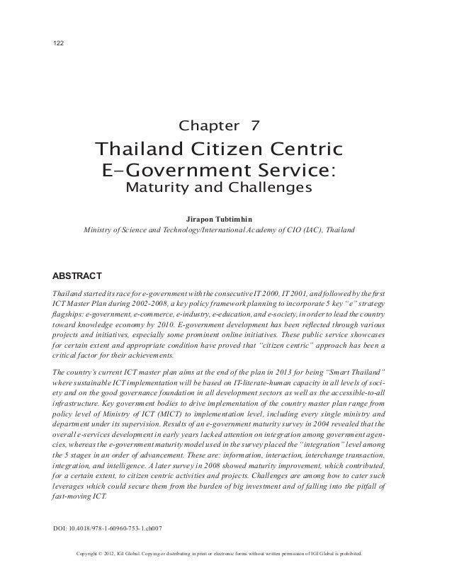 122                                                        Chapter 7                Thailand Citizen Centric              ...