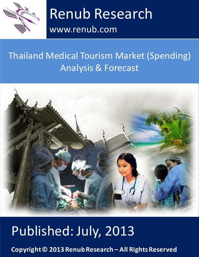 Thailand Medical Tourism Market (Spending) Analysis & Forecast Renub Research www.renub.com Published: July, 2013 Copyrigh...