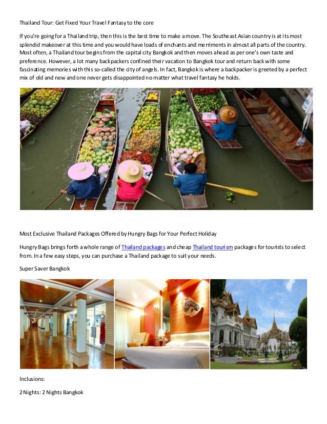 Thailand packages for your holiday