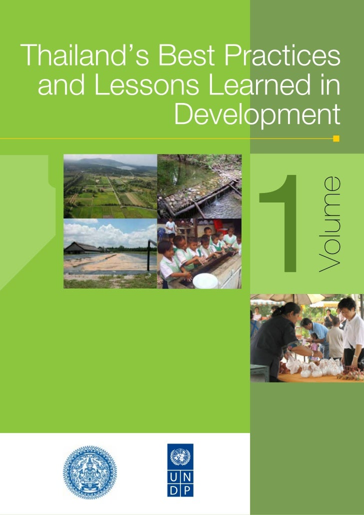 Thailand's best practices and lessons learned in development