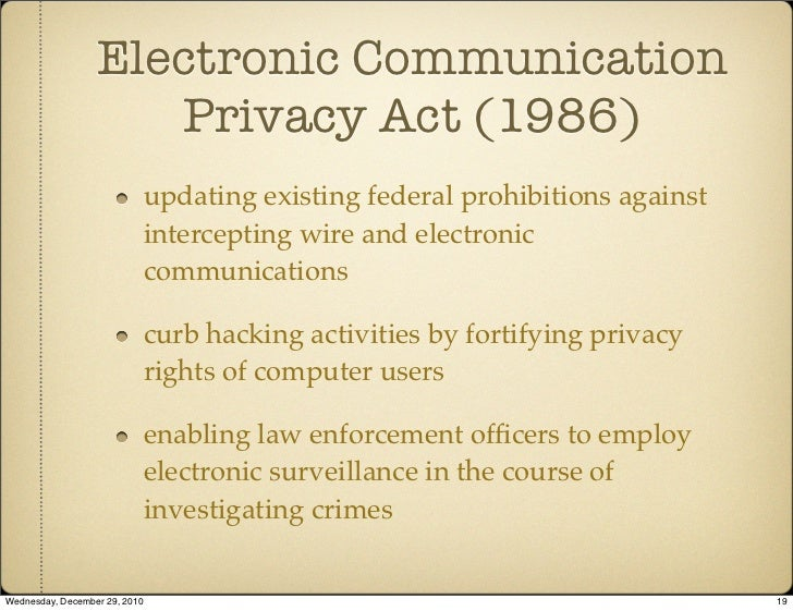 The case AGAINST electronic privacy?