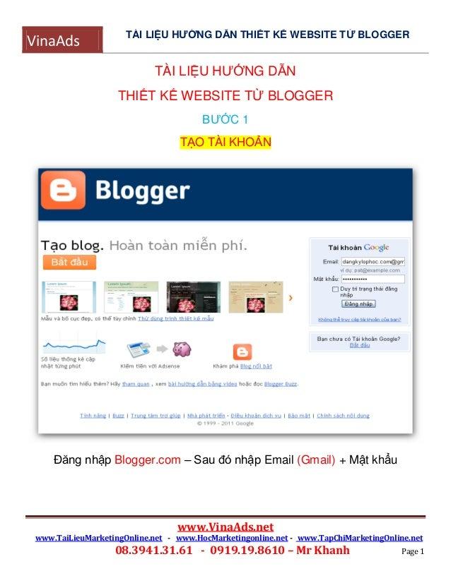 Thairobbin huong dan thiet ke website tu blogger