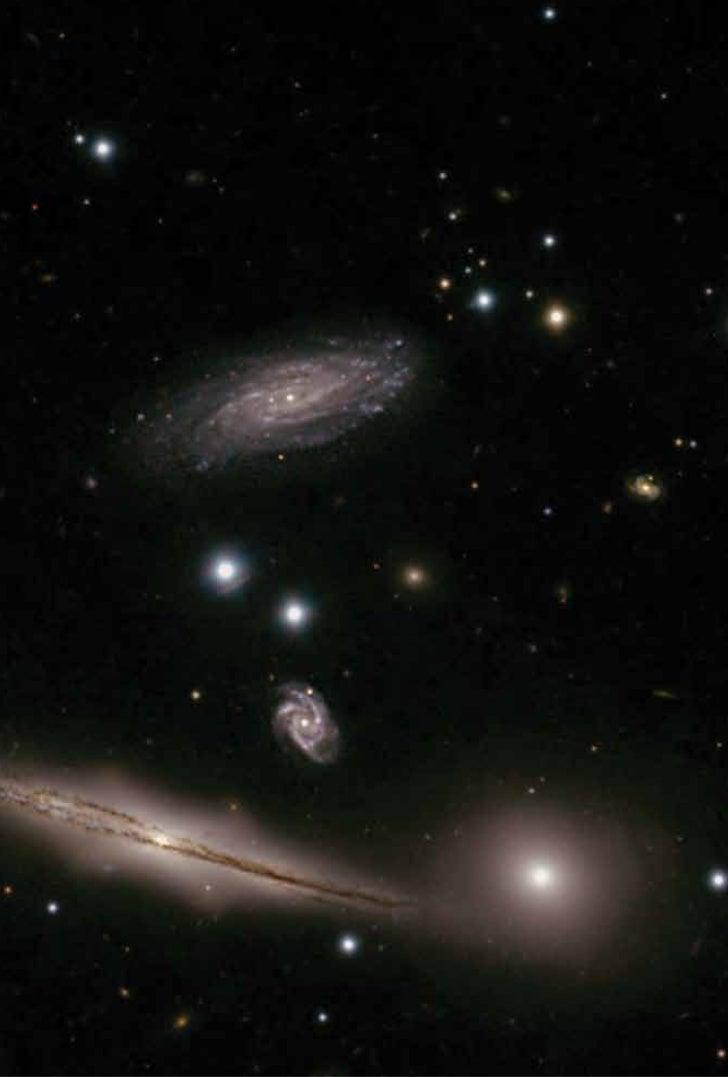 Imagem de um grupo compacto de galáxias (Hickson no. 87) obtida com o Telescópio Gemini Sul                  Brasil       ...