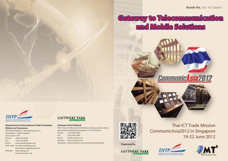 Communic Asia 2012_Thailand Pavilion Exhibitor Booklet