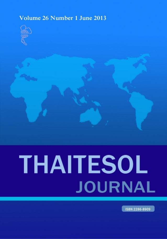 Thai tesol journal vol.26 no.1 june 2013