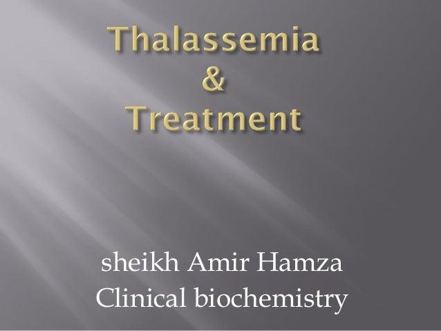 Thalassemia alpha and beta