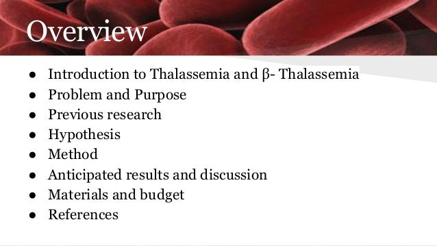 papers research thalassemia