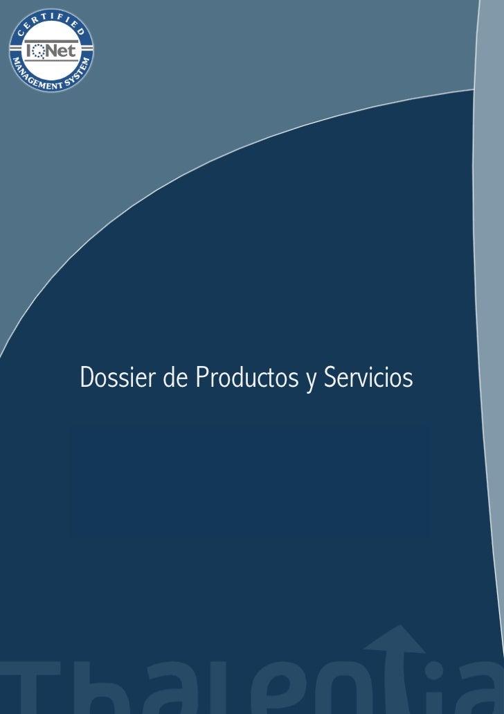 Dossier de Productos y Servicios